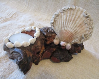 Decorative candle holder sea
