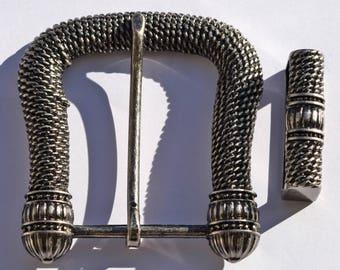 Vintage metal buckle and loop