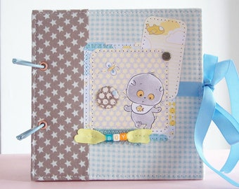 Babybook scrapbook photo album boy newborn handmade babyshower present birthday