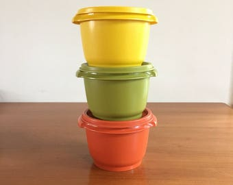 Tupperware set of cases with lids in relief