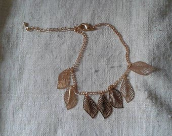 "bracelet ""several golden leaves"""