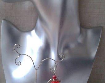 """""""little red Angel"""" earrings"""