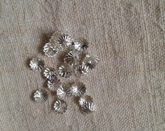 set of 50 small dishes, silver metal