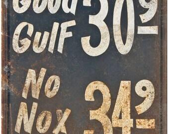 "Porcelain Look Motor Oil Gas Station 10"" x 7"" Retro Look Metal Sign"