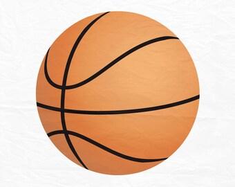 Basketball SVG, Basketball Silhouette, Basketball PNG, BasketballCut Files, Svg Files, Cricut Files, Silhouette Files