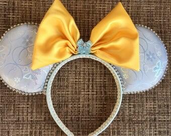 Cinderella inspired Mickey Ears, Cinderella Minnie Ears, Disney Ears, Princess Ears