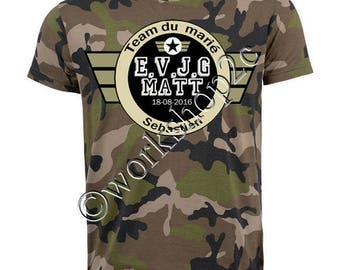 t-shirt evg not expensive stag boy model of army camouflage