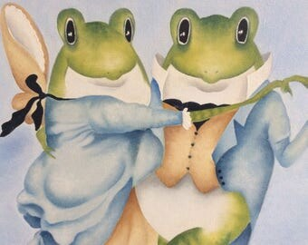 dancing frogs ORIGINAL painting
