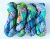 UNSUPERVISED - Hand Dyed Yarn - Speckled Superwash Merino/Nylon Fingering Weight Yarn