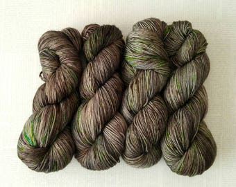 TAKE A HIKE - Hand Dyed Yarn – Choose Weight - Fingering  / Sport / Worsted – Superwash Tonal Speckle Yarn