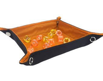 Orange Collapsible Dice Tray