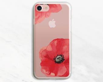 Big Poppy iPhone 7 Case Clear iPhone 6 Case Clear iPhone 6 Plus Case Clear iPhone 7 Plus Case Clear iPhone Case Clea
