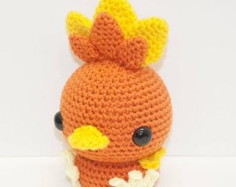 Torchic Crochet Plush Hand made