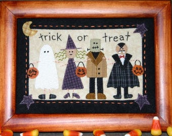 """Wool Penny Rug Pattern from Bareroots for Halloween 5 x 7""""  Little Stitchies  Collect them all!"""