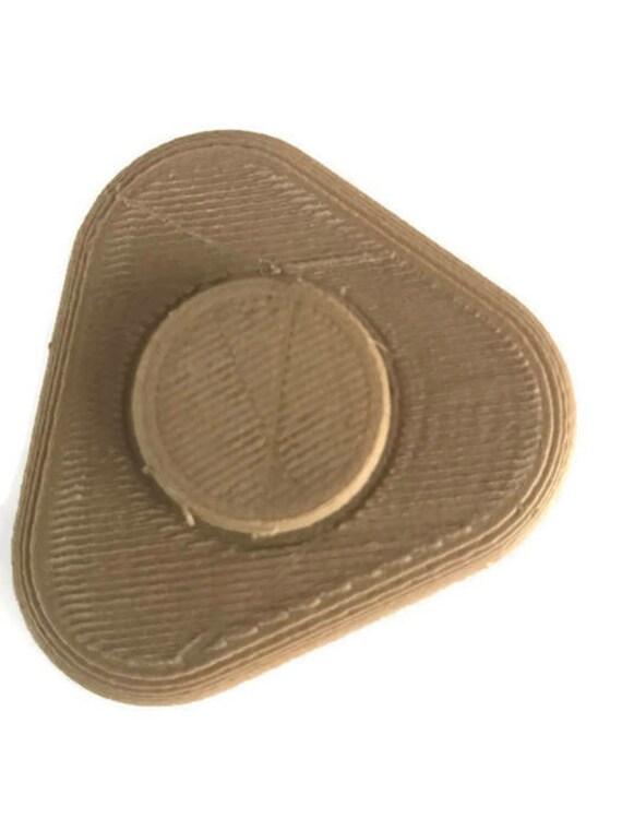 Wood Texture Pebble Style Fidget Spinner Ceramic Bearing