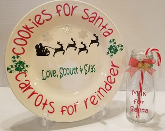 Santa Cookie Plate with Mug Set