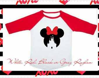 Minnie Mouse, Disney Vacation, 3/4 Sleeve Raglan