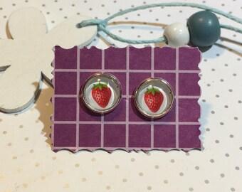 """Stud Earrings """"Strawberry"""""""