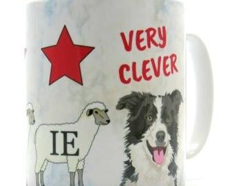 Collie Sheepdog Mug, Funny Border Collie Mug, Ideal Border Collie Gift.