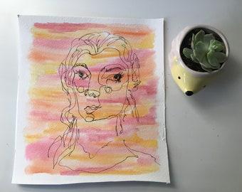 Blind Contour: Girl