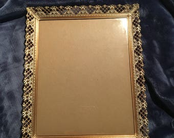 8x10 Brass/Gold Tone Metal Picture Frame Hollywood Regency
