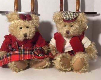 Regals Spencer And Sarah Russ Bears /Collectible Bears/Nursery Bears./Nostalgic Bears.