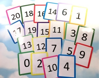 Number flash cards 0-20, KS1, Teaching resource, Educational toy, Number cards, Visual learners, counting, numeracy, count to 20