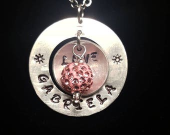 Personalized Necklace with charm
