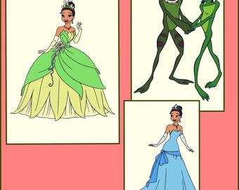 Tiana SVG - Layered Tiana SVG - Layered princess and the Frog Design - Layered Tiana SVG for Cricut and Silhouette