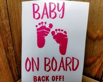 Baby on Board, Baby Feet, Window Decal, truck decal, car decal, baby shower gift, baby gift, baby safety, decals,