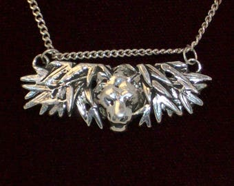 Sterling silver Tiger in the bamboo