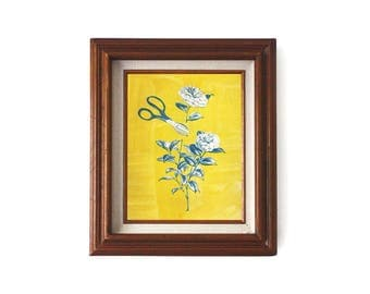 Cut Flower Art Print / Cyanotype Print