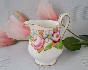 Royal Albert Bouquet Bone China Creamer, Made in England
