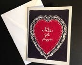 Chill Valentine's Day Greeting Cards - Let's Get Pizza - 4 Versions