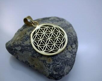 Geometric Pendant Brass Pendant Tibetan Pendant (1)