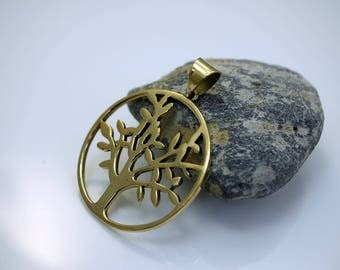 Tree of Life Pendant Brass Pendant Tibetan Pendant (1)