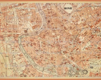 ROME Italy map minky baby blanket - baby cuddle quilt - or shoulder blanket, wheelchair lap blanket - 41 by 27 inches