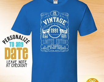Vintage since 1991, 27th birthday gifts for Men, 27th birthday gift, 27th birthday tshirt, gift for 27th Birthday ,