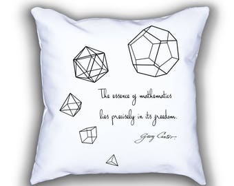Five Platonic Solids throw pillows