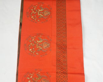 Vintage Japanese Silk Obi Fabric