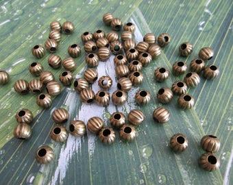 set of 20 bronze pumpkin beads 6 mm