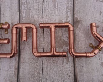 Personalised Copper Pipe Wall Plaque