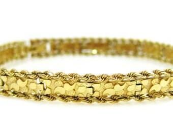 14K Gold Nugget Bracelet - X4027