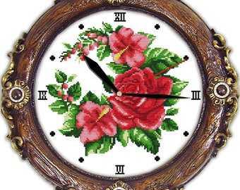 Blossom season (clock) cross stitch kit 14ct