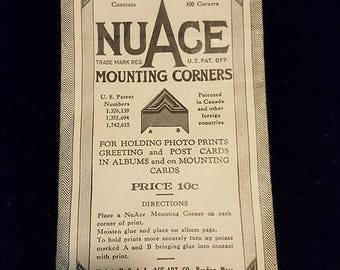 Nuace Monting corners  vintage photography