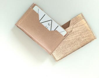 Leather Card Holder. Leather Card Case. Leather Card Wallet. Leather Wallet. Silver Card Case. Metallic Leather Card Case. Rose Gold Wallet