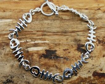 Sterling Silver Bonefish Bracelet - 925 silver bracelet - handmade silver jewellery - silver bracelet - sterling silver jewellery - (MB34)