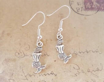 Little Mermaid earrings ~ silver ~