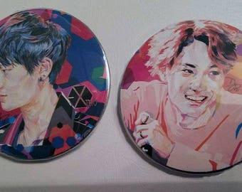 EXO Kpop Pinback Buttons