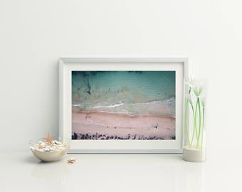 Beach Print //  Digital Beach Photo // Wanderlust // Beach Decor  // Beach Aerial photo / Ocean Photo // Home Decor